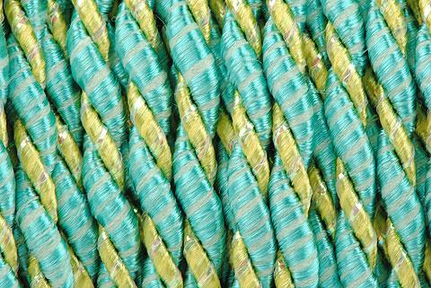 cordelette bicolore turquoise