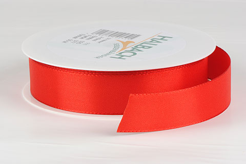 ruban tissu 25mm rouge