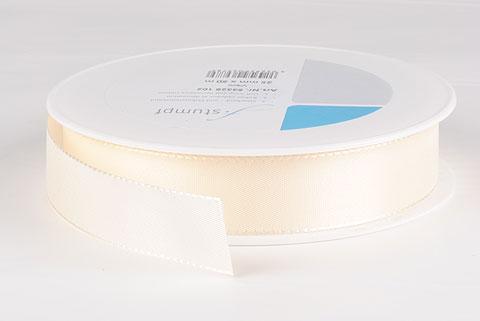 ruban tissu 25mm crème