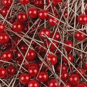 épingle perle 6mm rouge