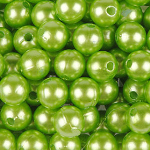 perle 10 mm vert pomme