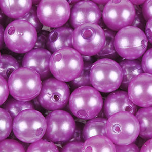 perle 10 mm lilas
