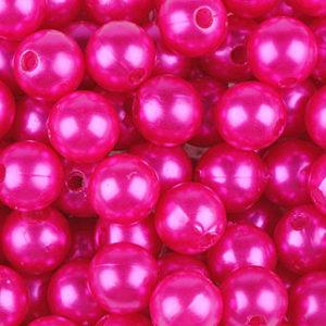perle 10 mm fushia
