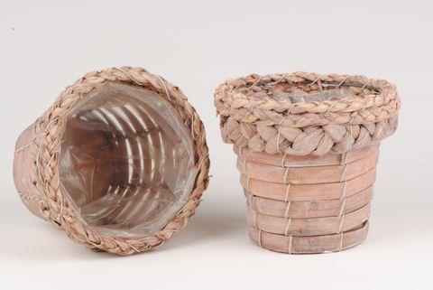cache pot en osier 12cm autour de la fleur accessoires de d coration. Black Bedroom Furniture Sets. Home Design Ideas