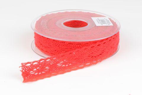 ruban dentelle 25 mm rouge