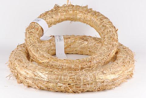 couronne de paille 30 cm