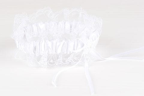 jarretiere blanche