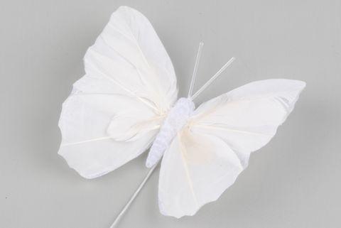 papillon blanc 8cm