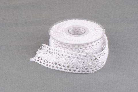 ruban dentelle 40mm blanc