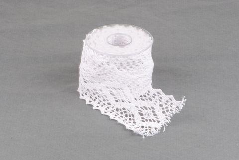 ruban dentelle 65 mm blanc