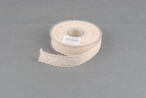 ruban dentelle naturel 25mm