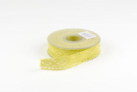 ruban dentelle lime 25 mm