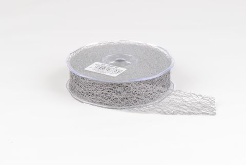 ruban fibre 30 mm argent