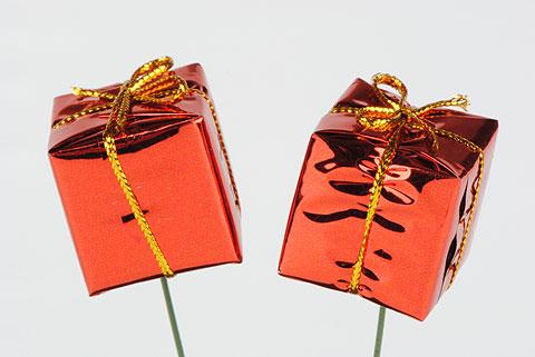 cadeau sur pic rouge