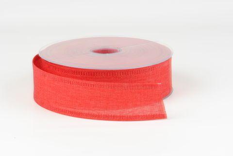 ruban de toile 40 mm rouge