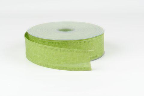 ruban toile 40 mm vert pomme