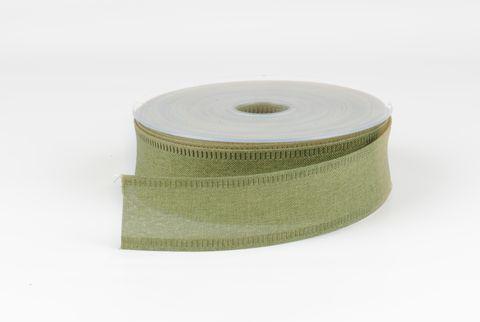 ruban de toile 40 mm vert mousse