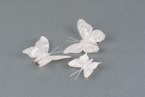 papillon blanc 2 tailles