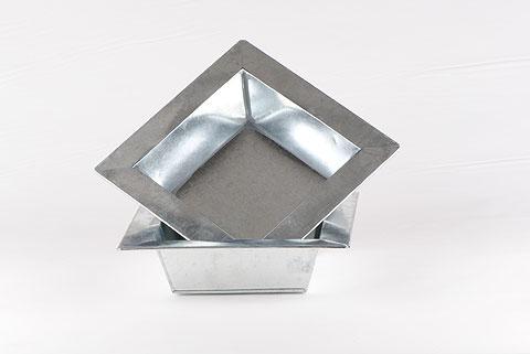 coupe carrée zinc 16 x 16
