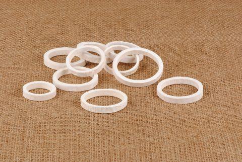 anneau bambou blanchi