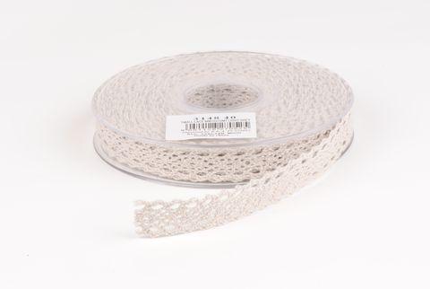ruban dentelle 15 mm gris