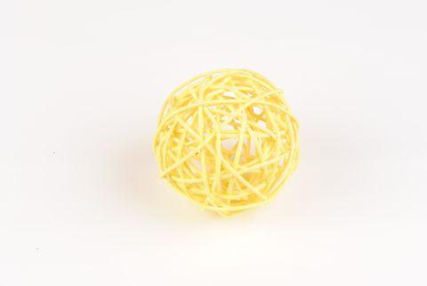 boule rotin jaune
