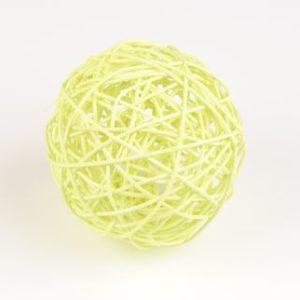 boule de rotin vert 10 cm